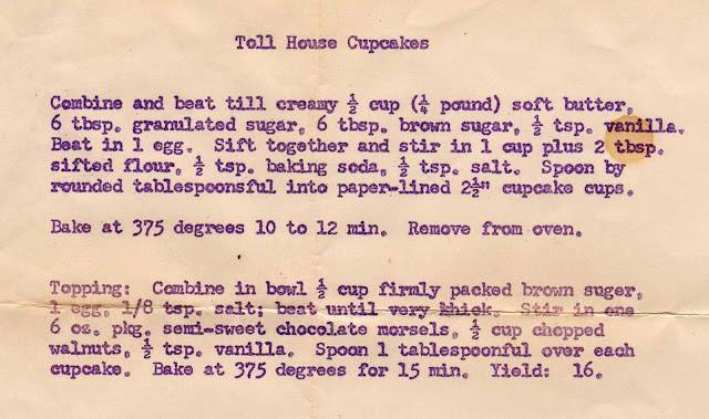 Toll House Cupcakes