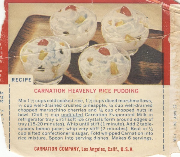 Carnation Heavenly Rice Pudding